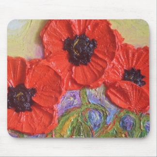 Paris' Red Poppies Mouse Pads
