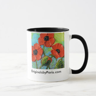 Paris' Red Poppies mug