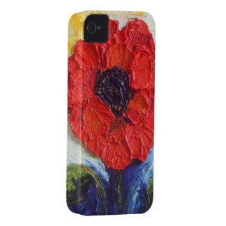 Paris' Red Poppy iPhone 4 Case