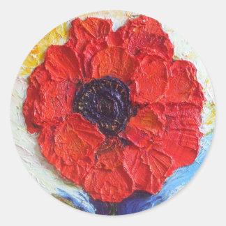 Paris' Red Poppy Stickers