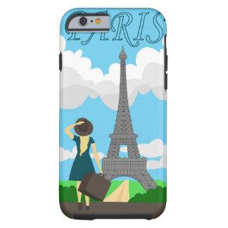 Paris retro style design tough iPhone 6 case