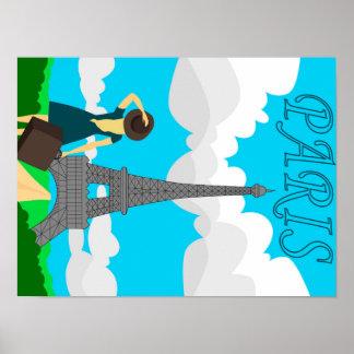 Paris retro style design poster
