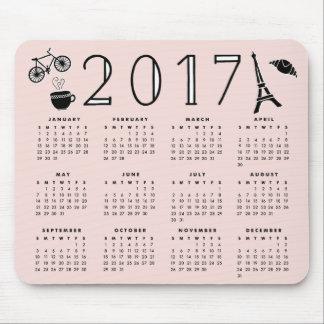 Paris Romance 2017 Calendar Mouse Pad