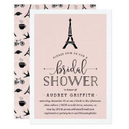 Paris bridal shower invitations announcements zazzle paris romance bridal shower invitation filmwisefo Choice Image