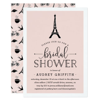 Paris Bridal Shower Invitations Announcements Zazzle