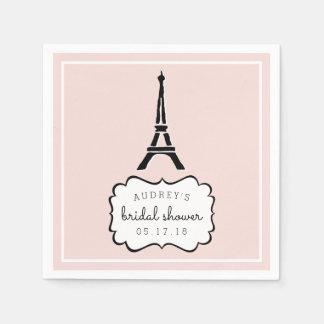 Paris Romance | Eiffel Tower Bridal Shower Paper Napkin