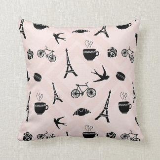 Paris Romance Patterned Throw Pillow