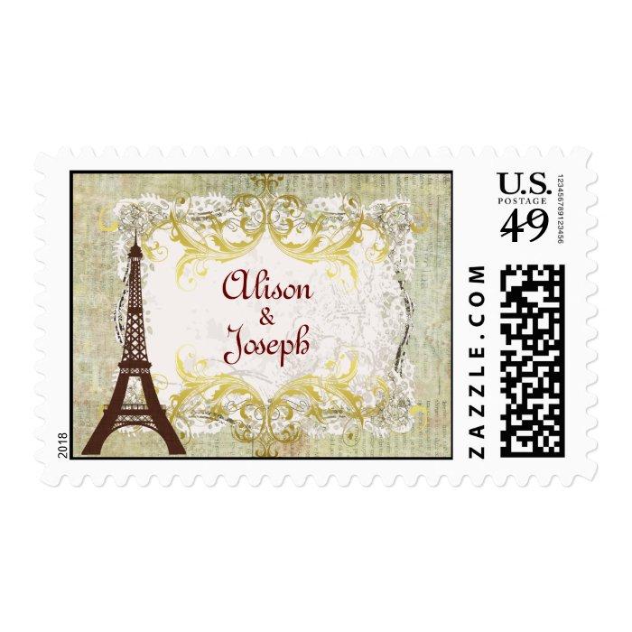 Paris Romantic Vintage Style Postage