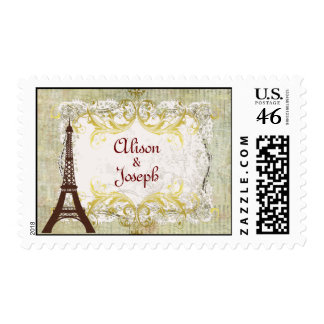 Paris Romantic Vintage Style Stamp