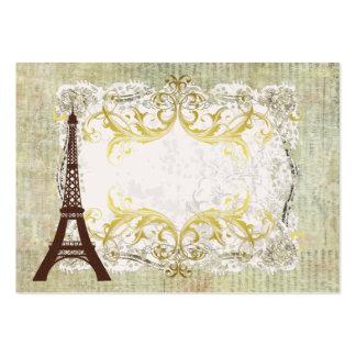 Paris Romantic Vintage Table Large Business Cards (Pack Of 100)