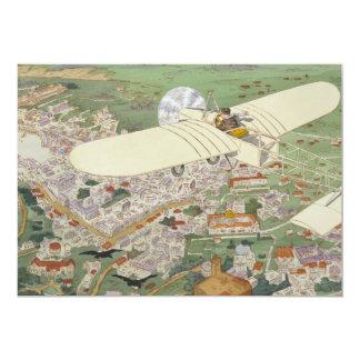 Paris-Rome Monoplane Beaumont Le Gagnant Bleriot 5x7 Paper Invitation Card