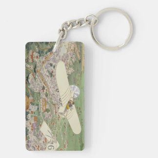 Paris-Rome Monoplane Beaumont Le Gagnant Bleriot Double-Sided Rectangular Acrylic Keychain