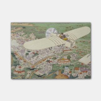 Paris-Rome Monoplane Beaumont Le Gagnant Bleriot Post-it Notes