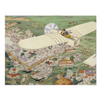 Paris-Rome Monoplane Beaumont Le Gagnant Bleriot Postcard