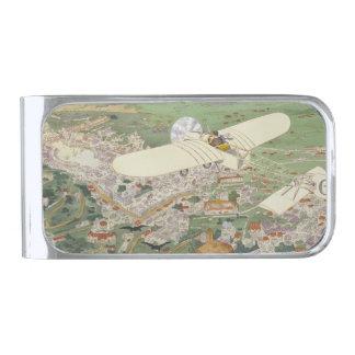 Paris-Rome Monoplane Beaumont Le Gagnant Bleriot Silver Finish Money Clip