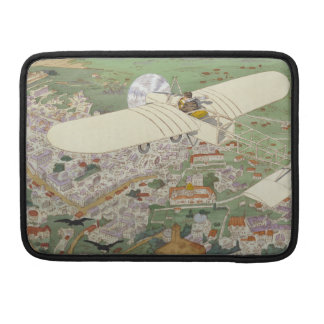 Paris-Rome Monoplane Beaumont Le Gagnant Bleriot Sleeve For MacBooks