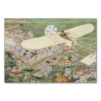 Paris-Rome Monoplane Beaumont Le Gagnant Bleriot Table Cards
