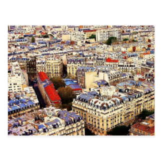 Paris Rooftops Postcard