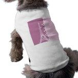 París rosada Chevron Camisetas Mascota