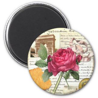 Paris Rose Magnet