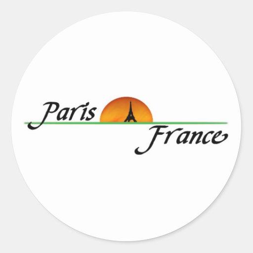 Paris Round Stickers