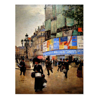 Paris, Rue du Havre artwork Postcard