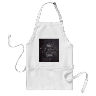 Paris rustic country chalkboard French Scripts Adult Apron
