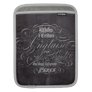 Paris rustic country chalkboard French Scripts iPad Sleeve