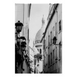 Paris Sacre-Coeur in Black and White Posters