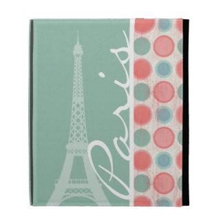 Paris; Salmon, Coral Pink, & Seafoam iPad Folio Covers