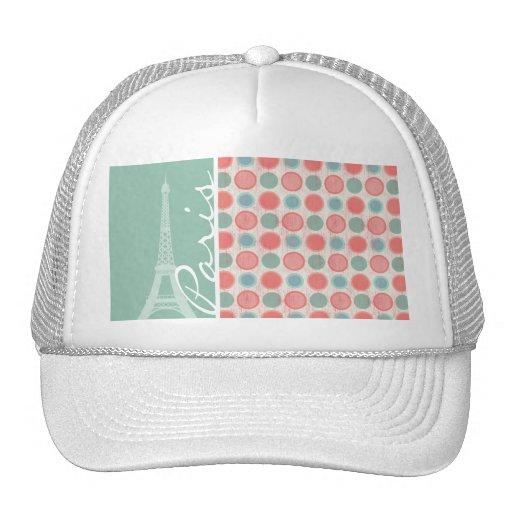 Paris; Salmon, Coral Pink, & Seafoam Hat