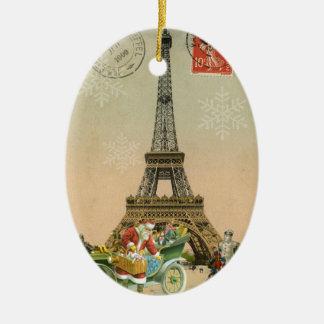 París Santa y ornamento del navidad del muñeco de Adornos