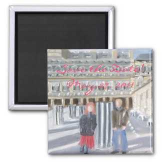 Paris Save the Date! 2 Inch Square Magnet