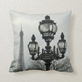 Paris Scene Throw Pillow