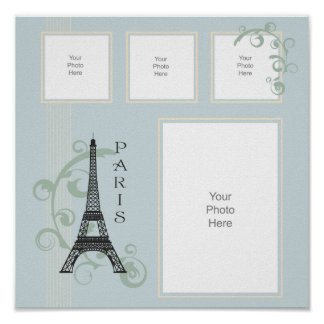 Paris Scrapbook Page Poster