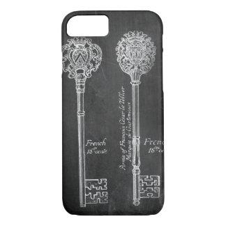 paris scripts chic vintage keys chalkboard iPhone 7 case