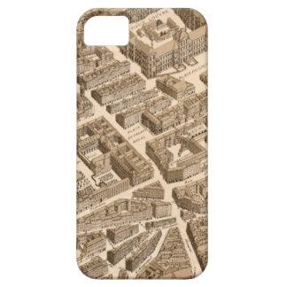 Paris Seine Map 1700s Antique Louvre Palais France iPhone SE/5/5s Case