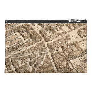 Paris Seine Map 1700s Antique Louvre Palais France Travel Accessory Bags