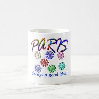 ¡París - siempre una buena idea! Taza Básica Blanca