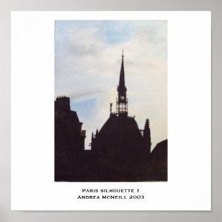Paris Silhouette 1 poster