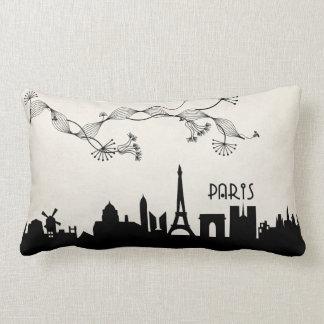paris skyline deco lumbar pillow