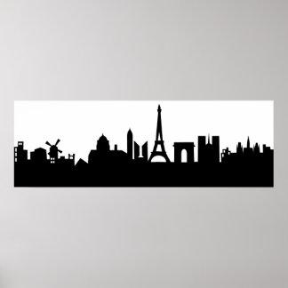paris skyline deco poster