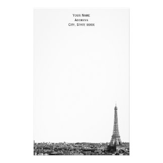 Paris Skyline Etched 01 Stationery