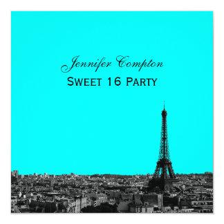 Paris Skyline Etched DIY BG Color SQ Sweet 16 Card