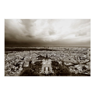 Paris Skyline (II) Poster