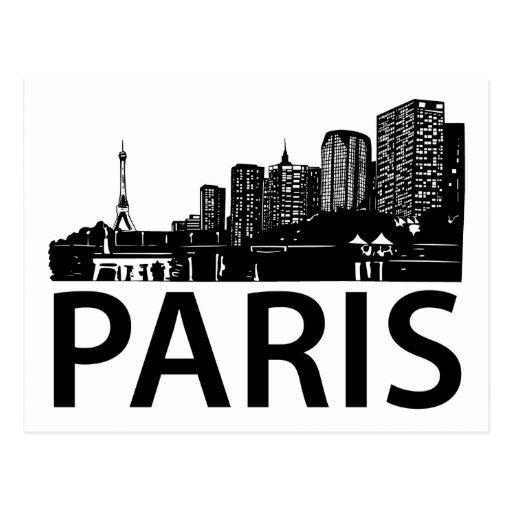 Paris Skyline Postcards