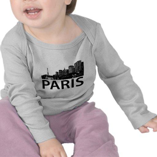 Paris Skyline Shirts