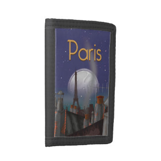 Paris Skyline Tri-fold Wallets