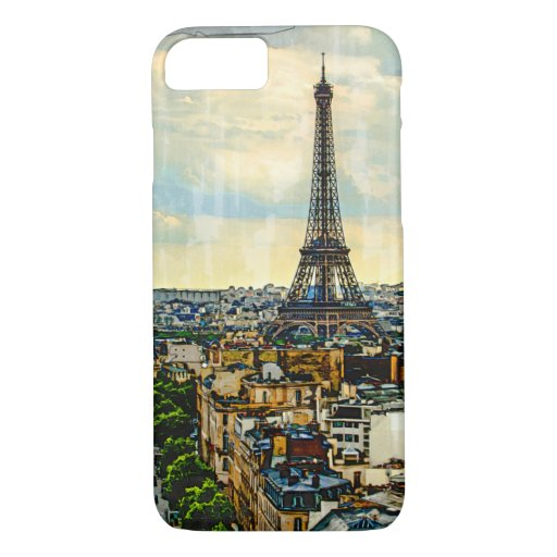 Paris skyline with the Eiffel Tower iPhone 8/7 Case