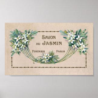 Paris Soap Label Poster